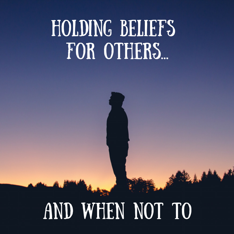 Holding beliefs for others